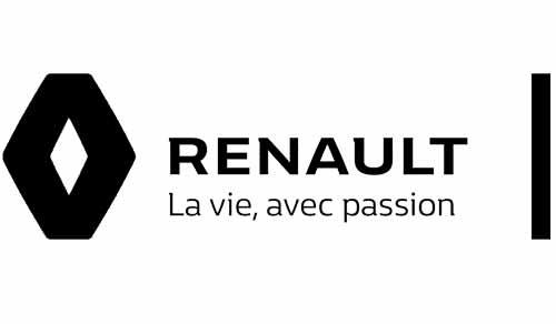 Logo Renault noir et blanc