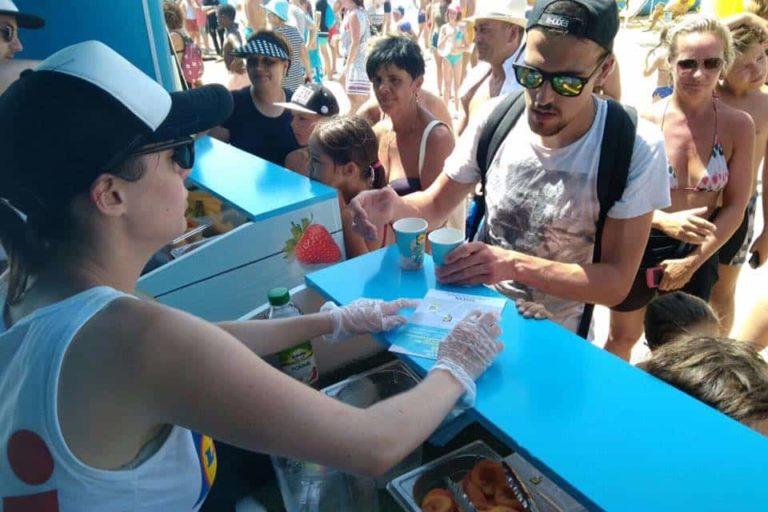 Bar à jus tournée des plages