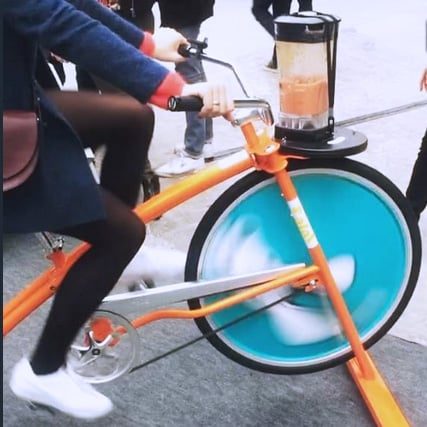 roue velo blender street marketing