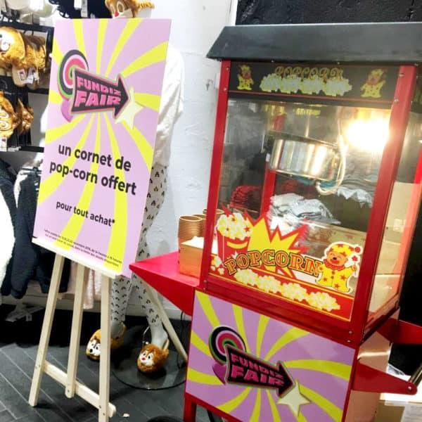 animation commerciale pop corn soldes