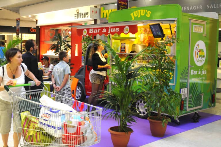 food truck en centrecommercial