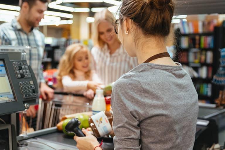 caisse supermarché noel